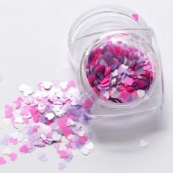 05 - 1Box vörös köröm csillogó pelyhek szerelmes szív alakú csúszó fényes flitteres szerelem szív alakú laza