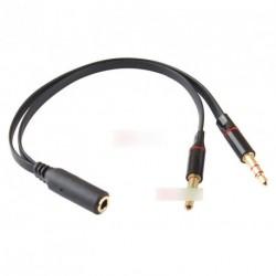 3.5mm F -2 M fejhallgató mikrofon kábel Y