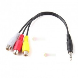 3.5mm Mini AV M - 3RCA F M/F audio video adapter