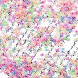 500/1000 db 2MM/3MM krém cukorka színű többszínű üveg rizsgyöngy DIY kiegészítők ékszerkészítéshez