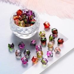 100db/táska átlátszó sokszögű többszínű festő akril gyöngyök DIY kiegészítők