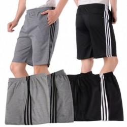 Férfi nyári plusz méretű alkalmi rövidnadrág Laza rugalmas derék ötpontos nadrág