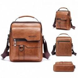 Férfi PU nagy kapacitású kézitáska Kenguru váll táska hátizsák férfi Messenger táska Üzleti aktatáska Crossbody