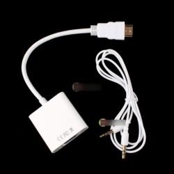 HDMI M - VGA FVideo Adapter konverter +audio kábel