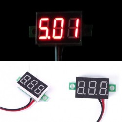 1 db DC 0-30V piros LED kijelzős voltméter panel