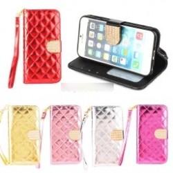 """1db Luxus fényes pénztárca  alakú telefon védő tok iPhone 6 / 6S Plus 5.5 """""""