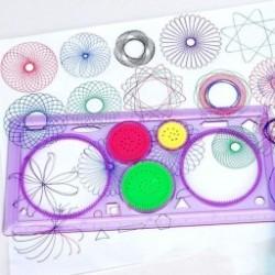 1db  Geometrikus Vonalzó  Spirálművészeti Klasszikus játék Írószer gyerekeknek