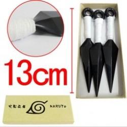 3db/szett 13cm Naruto műanyag Kunai japán ninja fegyverek kellékei Fiúk Műanyag játékok