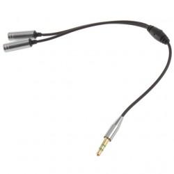 3,5 mm hosszabbító fülhallgató audio elosztó kábel