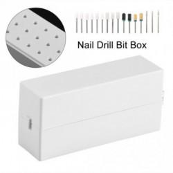 30 helyes köröm fúró csiszoló Bit Tartó Tároló doboz állvány eszköz kiegészítő