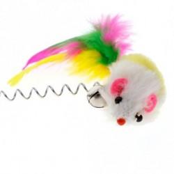 1db Vicces macska kisállat játék Véletlenszerű színes Plüss Egér Macska Játék