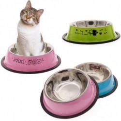 1x rozsdagemntes acél csúszásgátlós kutya macska cica élelmiszer víz tartó adagoló tál tálka