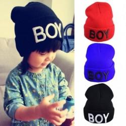 1 db Divat Baby fiú Lány Kalapok mintás feliratos Sapka Kötött Gyapjú kalap sapka Kalap  Kiegészítők