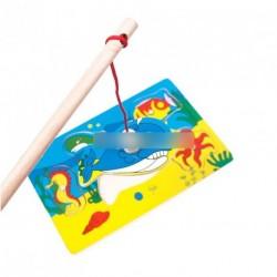 Mágnesen fa horgászós kirakó játék kicsiknek