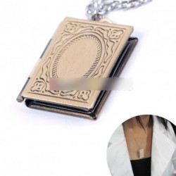 Bronz szín könyv mintás kinyítható medál nyaklánc