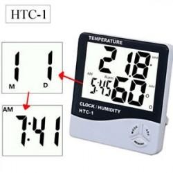 LCD digitális hőmérő higrométer Beltéri hőmérséklet páratartalom mérő óra Otthon