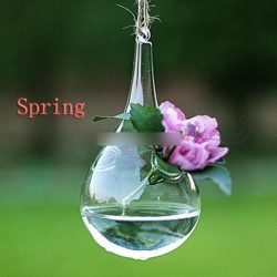 Tiszta lógó üveg virág váza