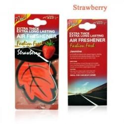 Eper - Auto Shine Paper függő Autó illatosító Vanilla illatosított illatú illatú alak