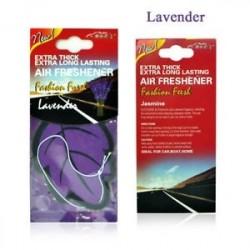 Levendula - Auto Shine Paper függő Autó illatosító Vanilla illatosított illatú illatú alak