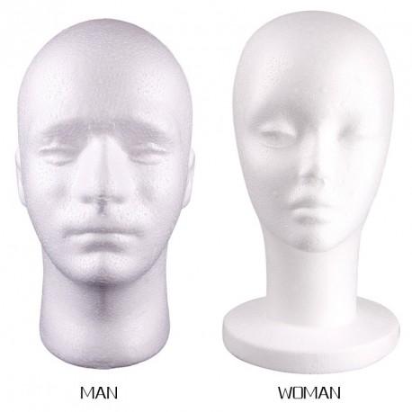 Férfi vagy Női Hungarocell próbababa fej