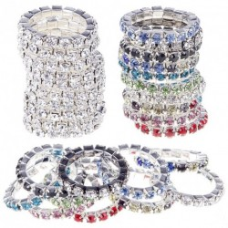 10db Divatos  Színes Crystal strasszos gyűrű szett