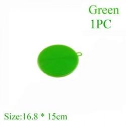 Green (1 db) - Szilikon tisztító kefe Konyhai súroló tálca edénytál tálas mosogató szivacsok