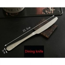 Étkező kés - Rozsdamentes acélból készült otthoni étkészlet Étkés marhahús vágó Ezüst edények készlet