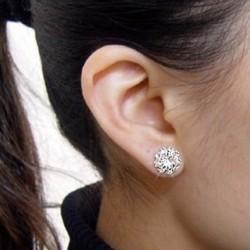 1 pár új divatos női Elegáns strasszos fülbevaló