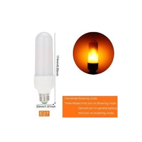 E27 Egy mód - E26 E27 B22 Természet szimulált sárga LED fényes kukorica izzó láng tűz SMD 2835
