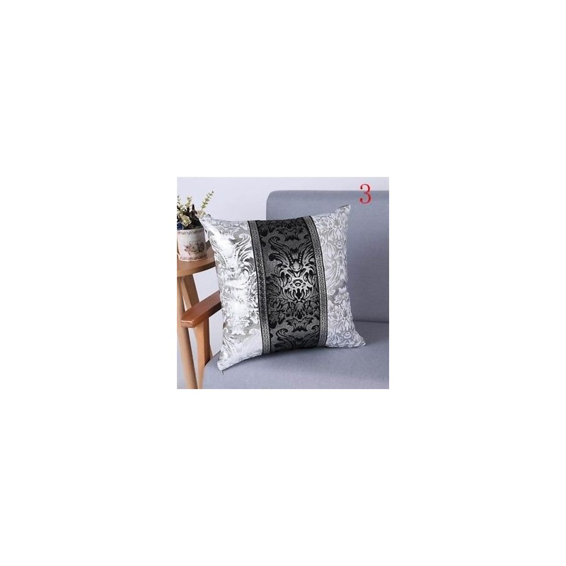 9d55228a8162 3 - Vintage Fekete Ezüst Virág Párna Cover Throw Patchwork PillowCase  Otthoni Dekoráció