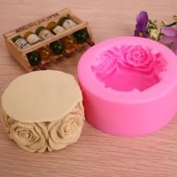 3D szilikon Rózsa szappan csoki sütőforma