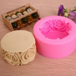 Rózsa öntőforma - Szilikon öntőforma szappanok - gyertyák - díszek készítéséhez