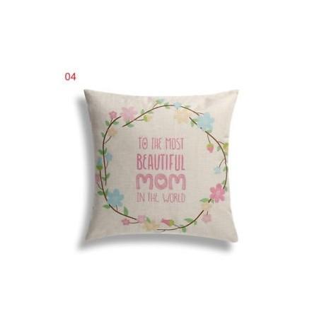 4 - Ágynemű pamut párna takaró kanapé párna tok Boldog anya napja Love design párna