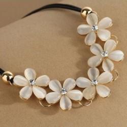 1db Női Virág mintás kristály nyaklánc ékszer