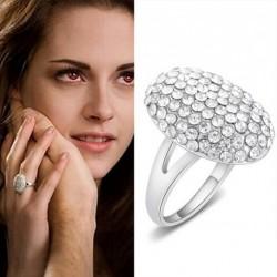 1db Női ezüst színű eljegyzési gyűrű ékszer divat