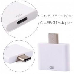 C típusú USB 3.1 Férfi 8 Pin Adapter iPhone 5 / 5s
