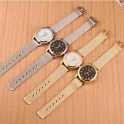 Fashion Nők Classic Genf Quartz luxus rozsdamentes acél Wrist Watch