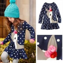 1db Kislány gyerekek őszi ruhák Hosszú ujjú ruha