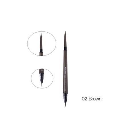 barna - Új kettős fej folyékony szemöldök tattoo toll vízálló hosszú élettartamú szemöldök toll