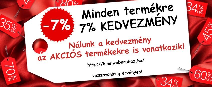 7% Kedvezmény